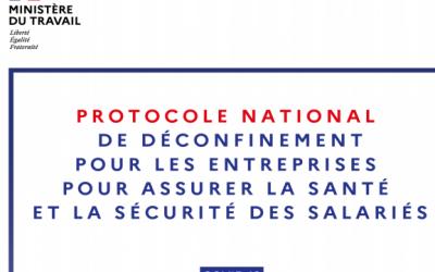 Nouveau protocole national – Pour la protection de la santé des salariés